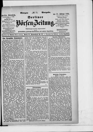 Berliner Börsen-Zeitung vom 11.02.1899