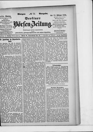 Berliner Börsen-Zeitung vom 12.02.1899