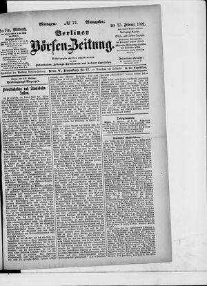 Berliner Börsen-Zeitung on Feb 15, 1899