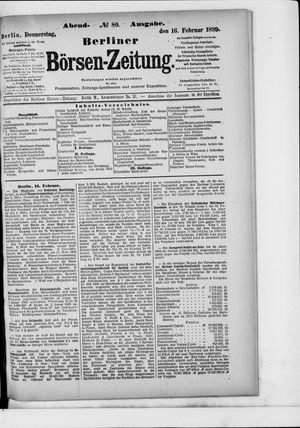 Berliner Börsen-Zeitung vom 16.02.1899