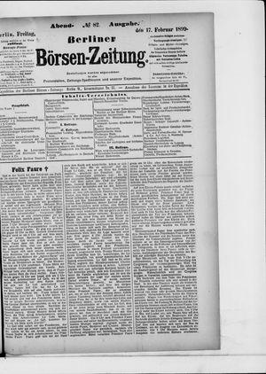 Berliner Börsen-Zeitung vom 17.02.1899