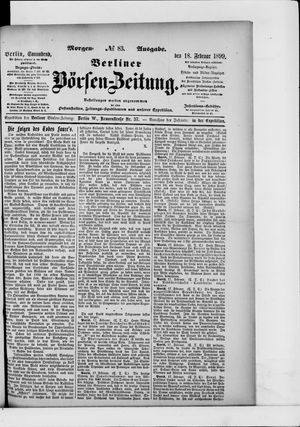 Berliner Börsen-Zeitung vom 18.02.1899