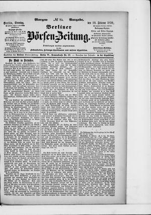 Berliner Börsen-Zeitung vom 19.02.1899