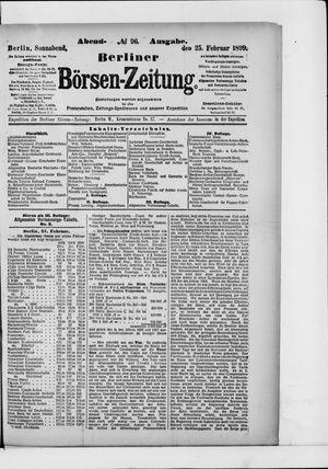 Berliner Börsen-Zeitung vom 25.02.1899