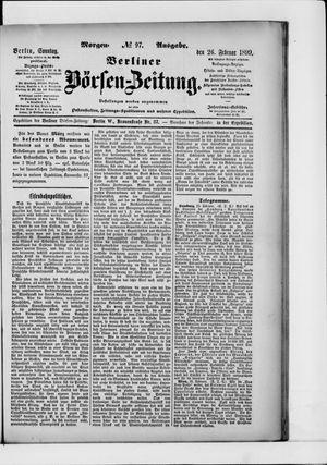 Berliner Börsen-Zeitung vom 26.02.1899