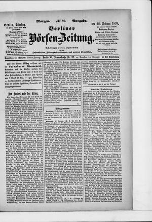 Berliner Börsen-Zeitung vom 28.02.1899