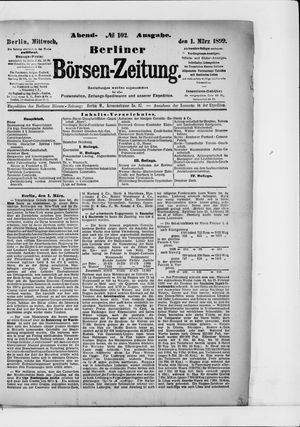 Berliner Börsen-Zeitung on Mar 1, 1899