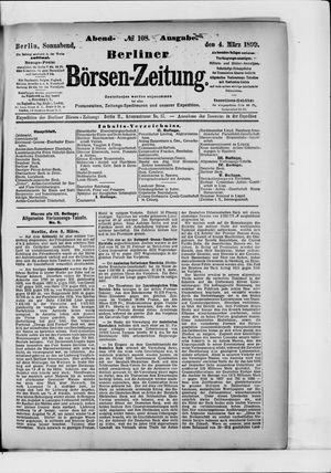 Berliner Börsen-Zeitung vom 04.03.1899