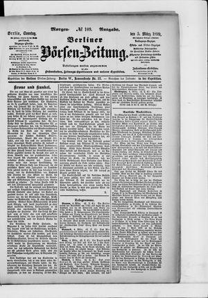 Berliner Börsen-Zeitung vom 05.03.1899