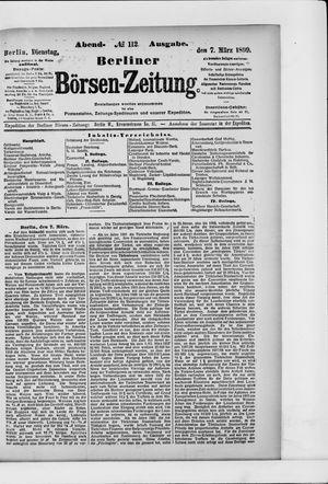 Berliner Börsen-Zeitung vom 07.03.1899