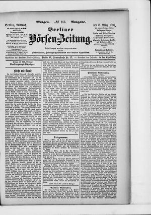 Berliner Börsen-Zeitung vom 08.03.1899