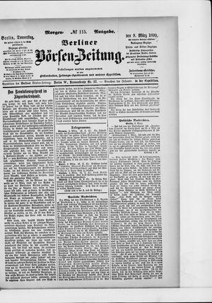 Berliner Börsen-Zeitung vom 09.03.1899