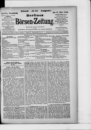 Berliner Börsen-Zeitung vom 11.03.1899