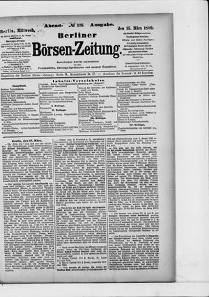 Berliner Börsen-Zeitung vom 15.03.1899