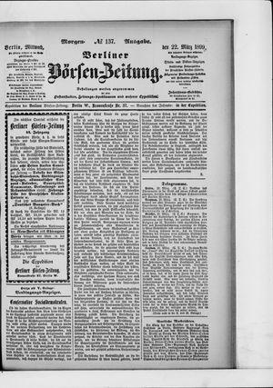 Berliner Börsen-Zeitung vom 22.03.1899