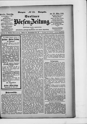 Berliner Börsen-Zeitung vom 23.03.1899