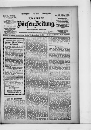 Berliner Börsen-Zeitung vom 26.03.1899