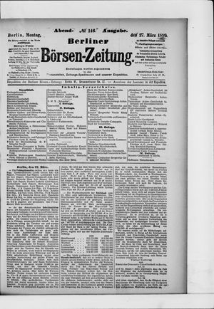 Berliner Börsen-Zeitung vom 27.03.1899