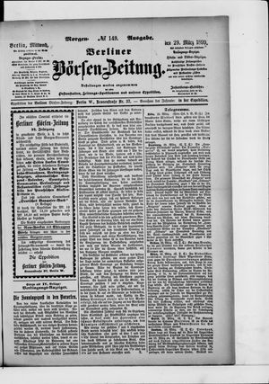 Berliner Börsen-Zeitung vom 29.03.1899