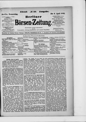 Berliner Börsen-Zeitung vom 06.04.1899