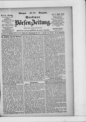 Berliner Börsen-Zeitung vom 09.04.1899