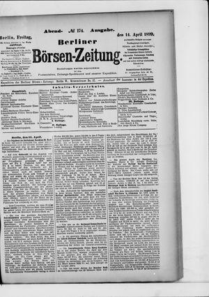 Berliner Börsen-Zeitung on Apr 14, 1899