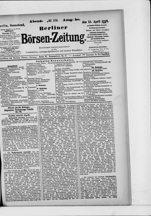 Berliner Börsen-Zeitung vom 15.04.1899