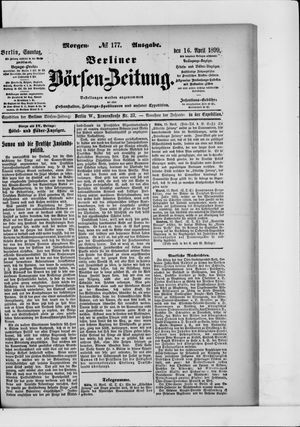 Berliner Börsen-Zeitung vom 16.04.1899