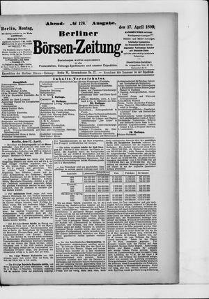 Berliner Börsen-Zeitung on Apr 17, 1899