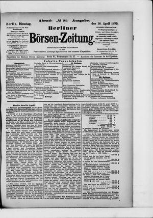 Berliner Börsen-Zeitung vom 18.04.1899