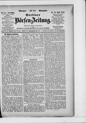 Berliner Börsen-Zeitung vom 20.04.1899