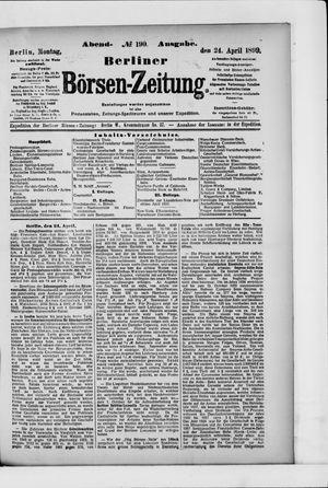 Berliner Börsen-Zeitung vom 24.04.1899