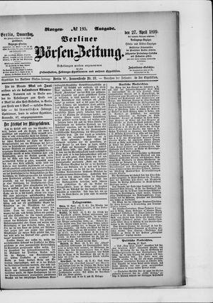 Berliner Börsen-Zeitung vom 27.04.1899