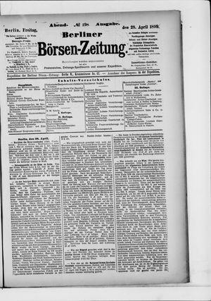Berliner Börsen-Zeitung vom 28.04.1899