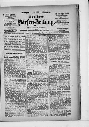 Berliner Börsen-Zeitung vom 30.04.1899
