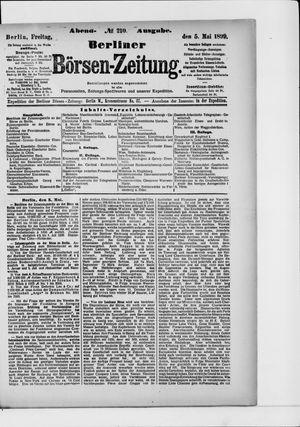 Berliner Börsen-Zeitung vom 05.05.1899
