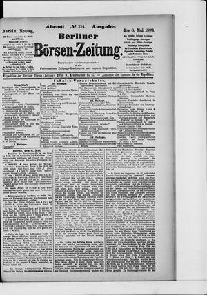 Berliner Börsen-Zeitung vom 08.05.1899