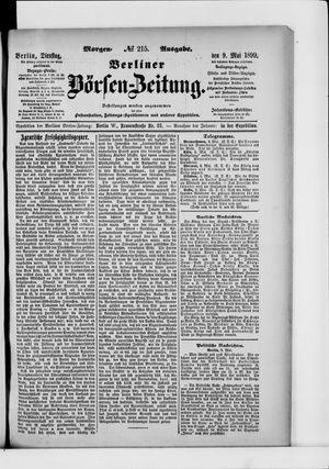 Berliner Börsen-Zeitung vom 09.05.1899