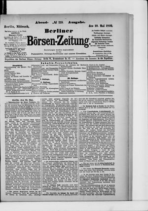 Berliner Börsen-Zeitung vom 10.05.1899