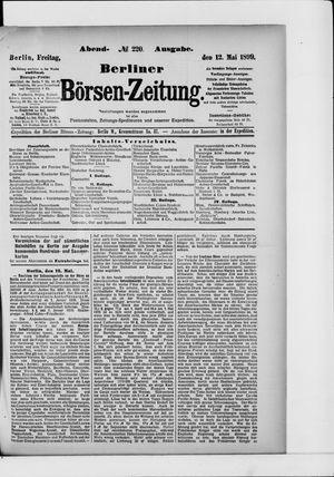 Berliner Börsen-Zeitung vom 12.05.1899