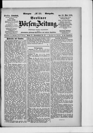 Berliner Börsen-Zeitung vom 13.05.1899