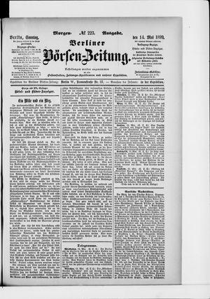 Berliner Börsen-Zeitung vom 14.05.1899