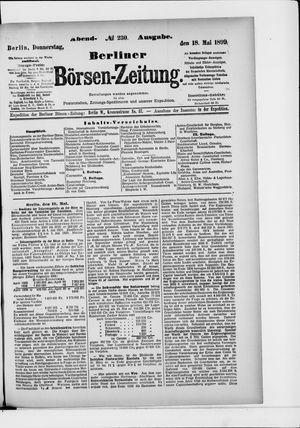 Berliner Börsen-Zeitung vom 18.05.1899