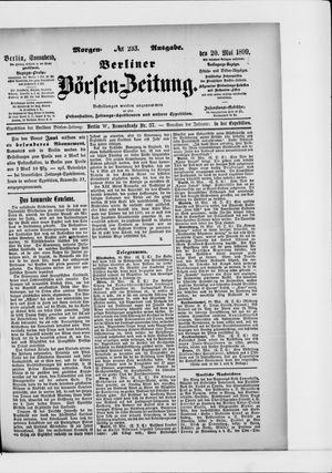 Berliner Börsen-Zeitung vom 20.05.1899
