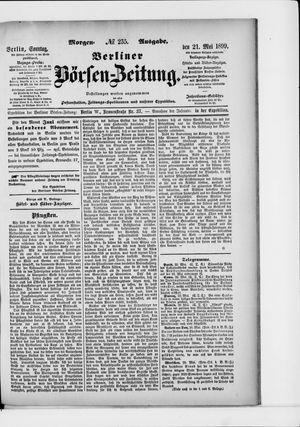Berliner Börsen-Zeitung vom 21.05.1899