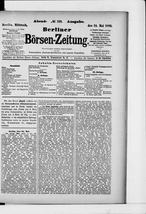 Berliner Börsen-Zeitung vom 24.05.1899