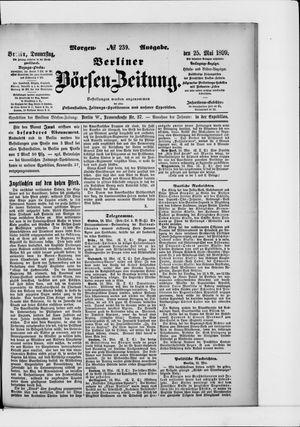 Berliner Börsen-Zeitung vom 25.05.1899