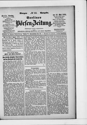 Berliner Börsen-Zeitung vom 28.05.1899