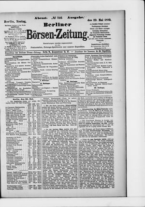 Berliner Börsen-Zeitung vom 29.05.1899