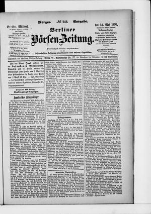 Berliner Börsen-Zeitung vom 31.05.1899